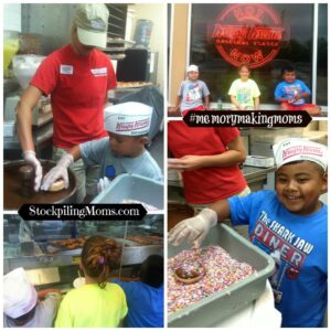 Krispy Kreme Doughnut Fun!  What a fun activity for the kids! #summer #kids #FavoriteKrispyKreme