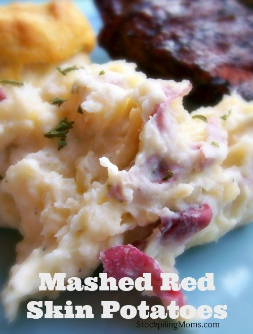 Mashed Red Skin Potatoes are an amazing side dish with lots of taste and is very filling!