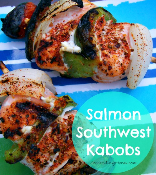 Salmon Southwest Kabobs are easy to prepare and perfect for anyone who is carb cycling.