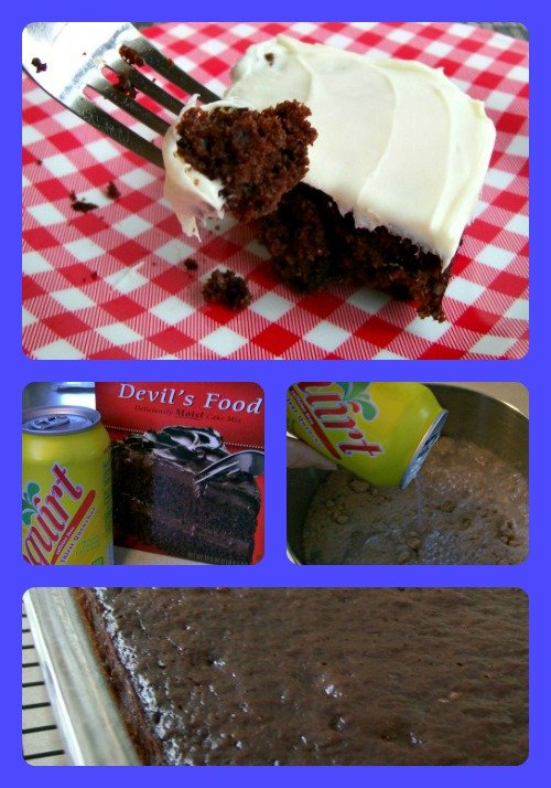 Soda Cake is easy to make and tastes delicious!