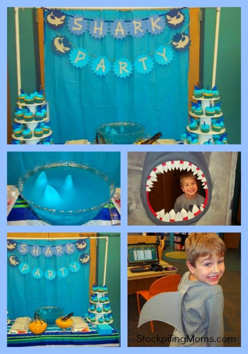 shark party collage