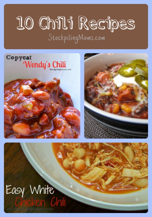 10 Chili Recipes that are perfect on a cold fall or winter day!