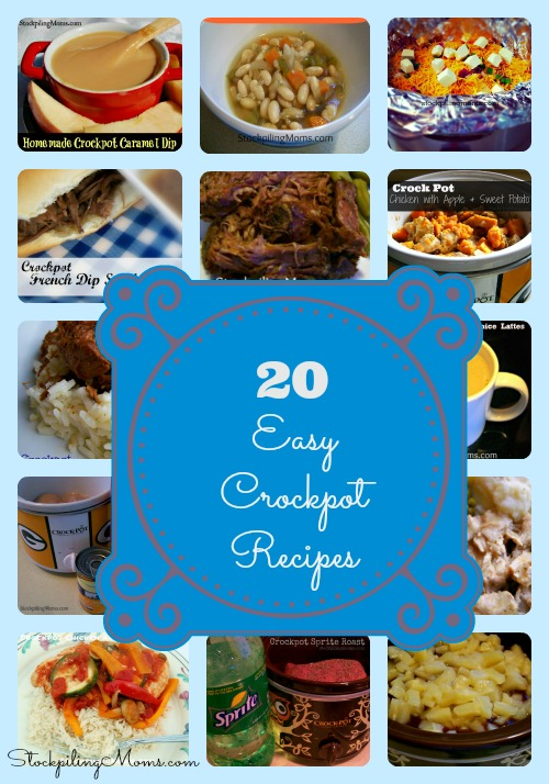 20 Easy Crockpot Recipes to save you time and money in the kitchen!