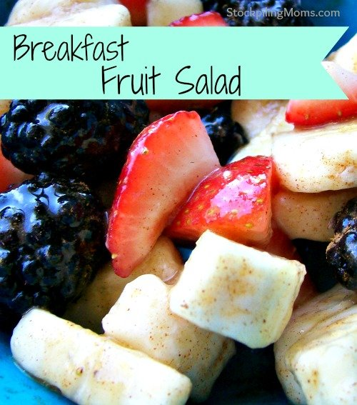 Breakfast Fruit Salad is such a healthy breakfast or snack!  Love the hint of cinnamon an so good for you!