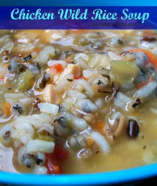 Chicken Wild Rice Soup is an easy freezer meal the whole family will love!