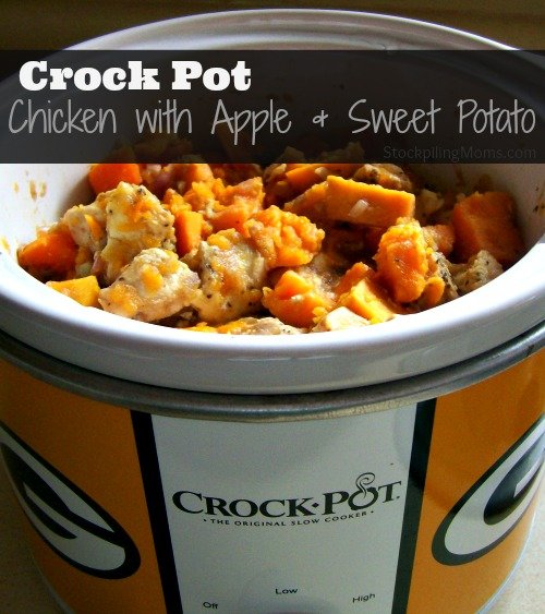 Crockpot Chicken with Apple and Sweet Potato is an easy dinner recipe!
