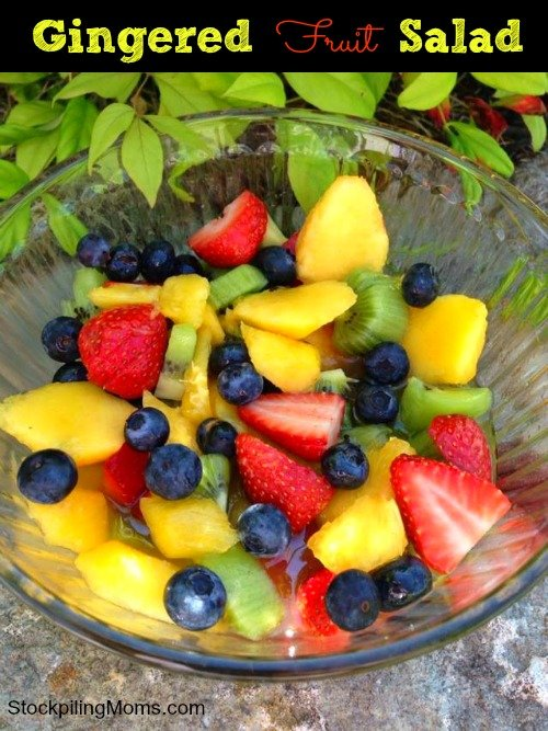 Gingered Fruit Salad is the most delicious fruit salad you will ever eat!