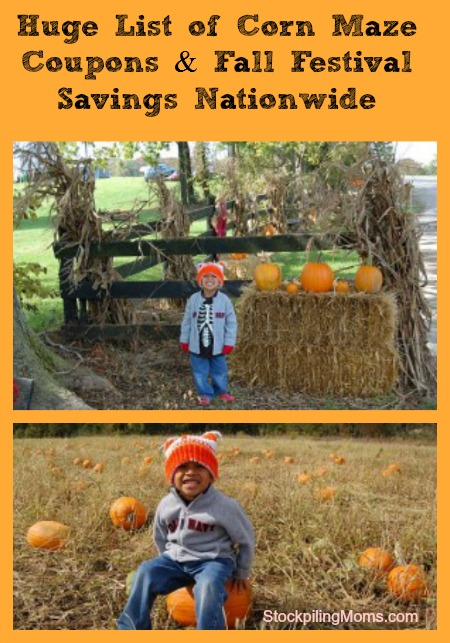 Huge List of Corn Maze Coupons & Fall Festival Savings Nationwide