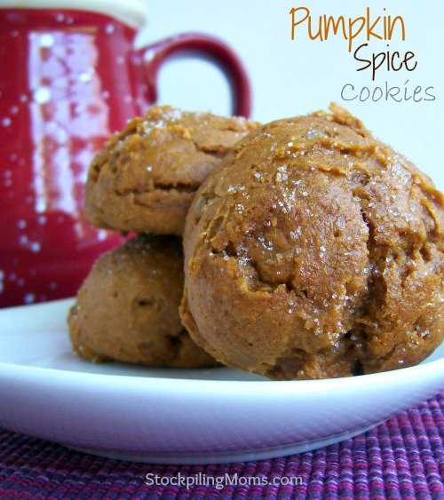 Pumpkin Spice Cookies that are perfect for autumn. Only 2 ingredients and 2 WW points in these delicious and moist cookies.