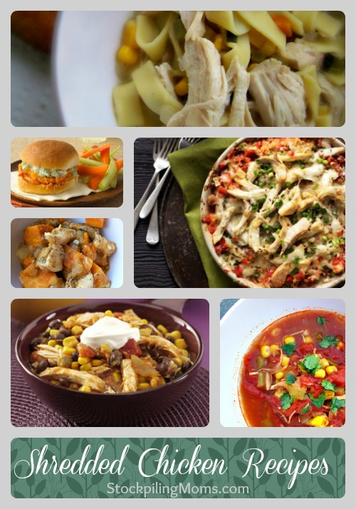 Recipes using Shredded Chicken - A great way to save time and money in the kitchen.