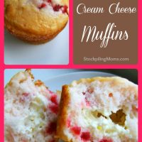 Strawberry Cream Cheese Muffins Collage