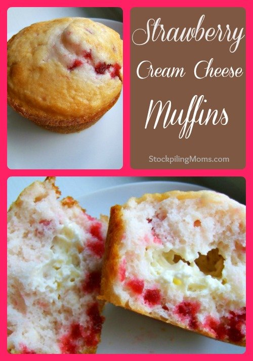 I love this easy Strawberry Cream Cheese Muffins Recipe!