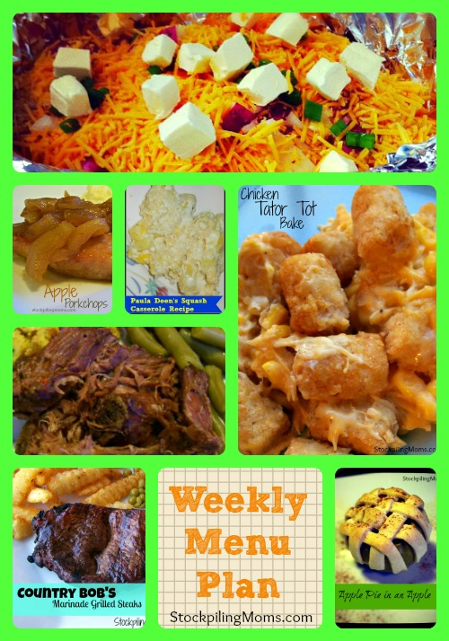 Weekly Menu Plan - great wit save time and money in the kitchen!