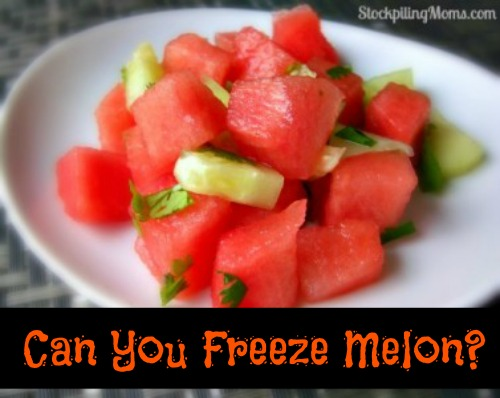Can You Freeze Melon Stockpiling Moms