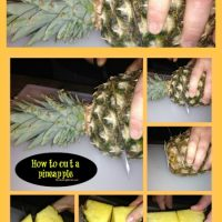 How do you cut a pineapple?