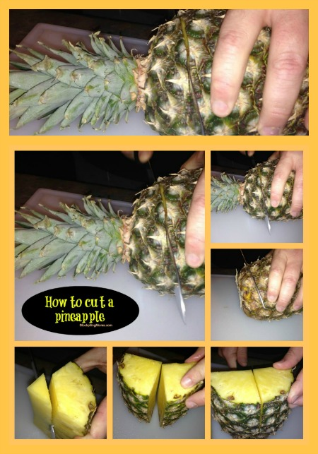 how to cut a pineapple collage