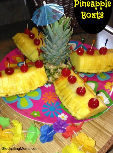 Pineapple Boats are fun for a luau or pool party!
