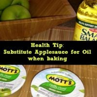 Heart Healthy Baking Tip – Substitute Applesauce for Oil