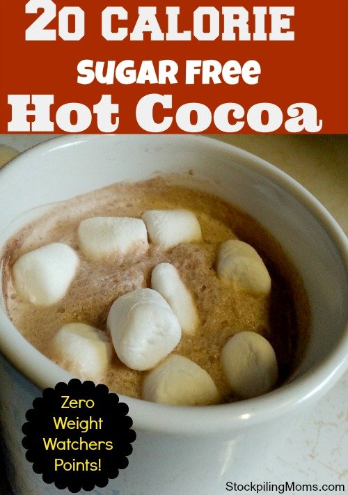 20 Calorie Sugar Free Hot Cocoa is ZERO Weight Watchers points!