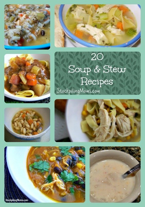 20 Soup and Stew Recipe Collage