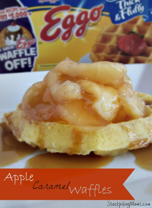 Apple Caramel Waffles