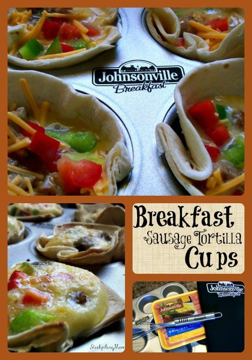 Breakfast Sausage Tortilla Cups Collage