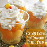 Candy Corn Halloween Fruit Cup