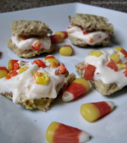 Candy Corn Ice Cream Bites Recipe