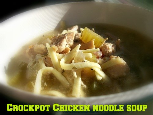 Crockpot Chicken Noodle Soup Recipe is the perfect comfort food.
