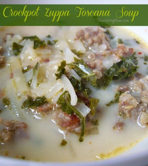 Crockpot Zuppa Toscana tastes just like Olive Garden! You will love this slow cooker recipe!