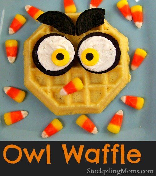 This Owl Waffle is a fun breakfast idea that your kids will love!