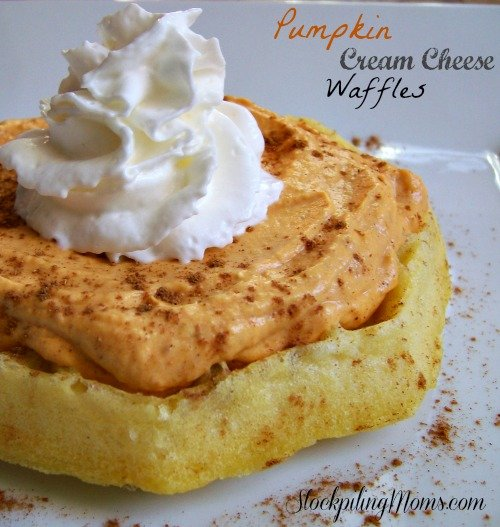 Pumpkin Cream Cheese Waffles