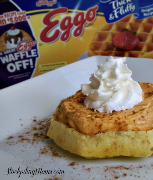 Pumpkin Cream Cheese Waffles are perfect for fall!
