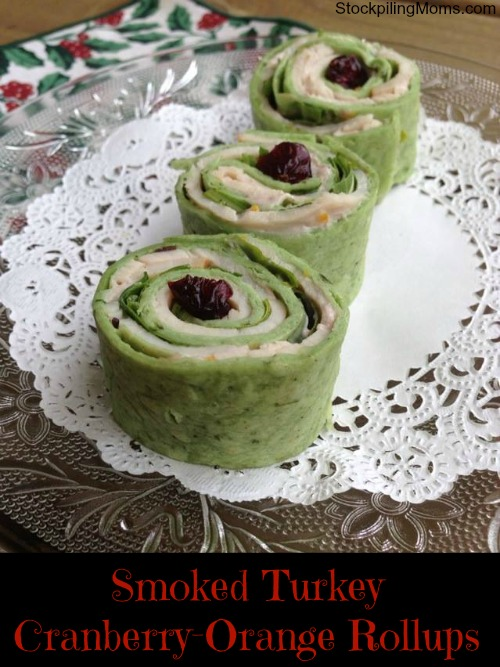 The perfect appetizer for Christmas is Smoked Turkey Cranberry-Orange Rollups