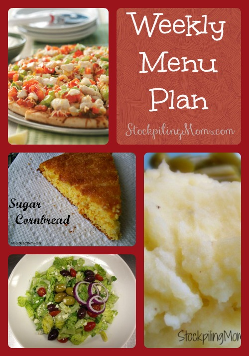 Weekly Menu Plan 106
