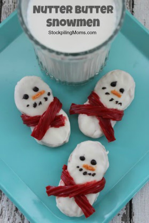 Nutter Butter Snowmen Cookies are so much fun and delicious treat to make for your kids