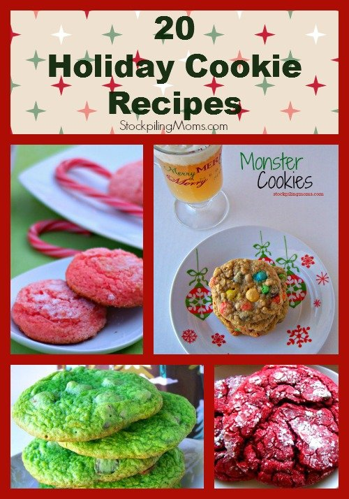 20 Holiday Cookie Recipe Collage
