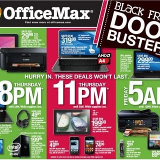 Office Max Black Friday 2013 Ad Scan & Deals