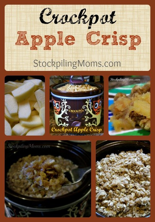 Crockpot Apple Crisp is easy to make and tastes delicious! This is the best dessert ever.