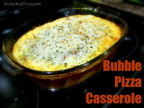 Bubble Pizza Casserole is the perfect dinner meal for those busy nights when there is little time to prepare.