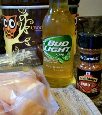 Crockpot BBQ Beer Chicken Recipe