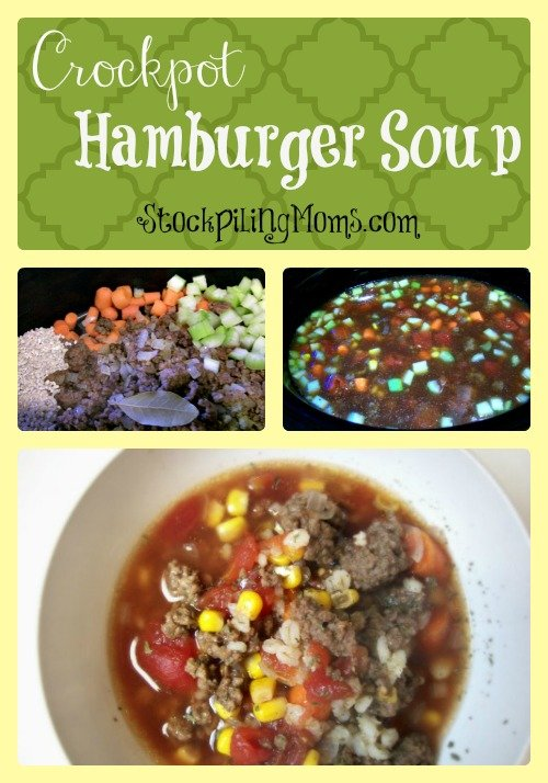 Crockpot Hamburger Soup Collage