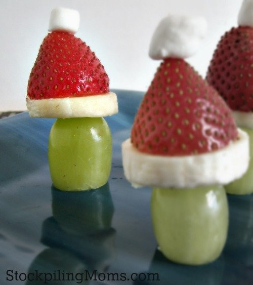 Grinch Poppers a fun and healthy treat during the holidays!