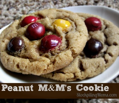 This Peanut M&M's Cookie is semi-homemade and packed full of deliciousness!