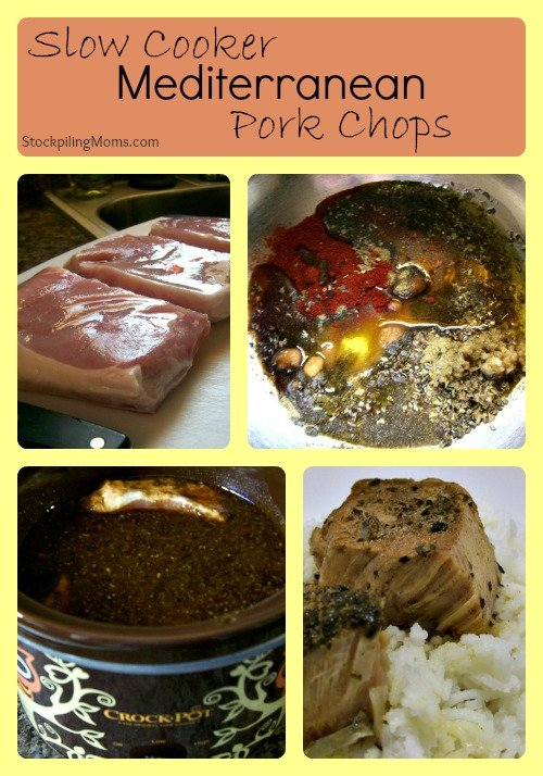 Slow Cooker Mediterranean Pork Chops Collage