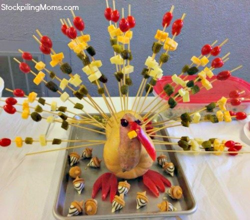 Thanksgiving fruit and cheese Turkey final