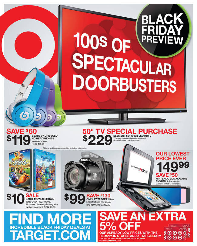 Target Black Friday 2013 Sales And Ads
