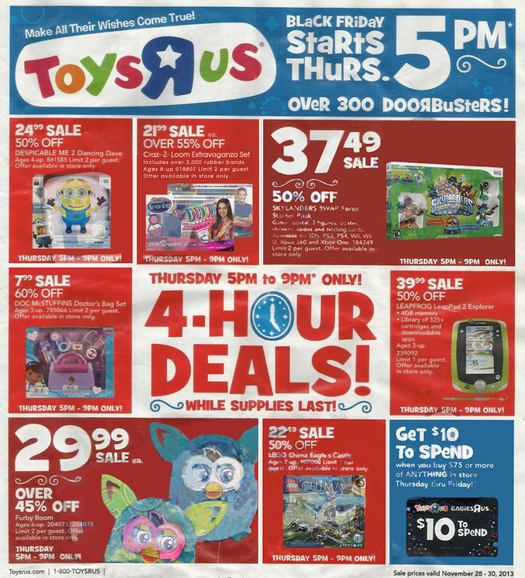 May The Fourth Be With You Toys R Us: Toys R Us Black Friday 2013 Sales And Ads