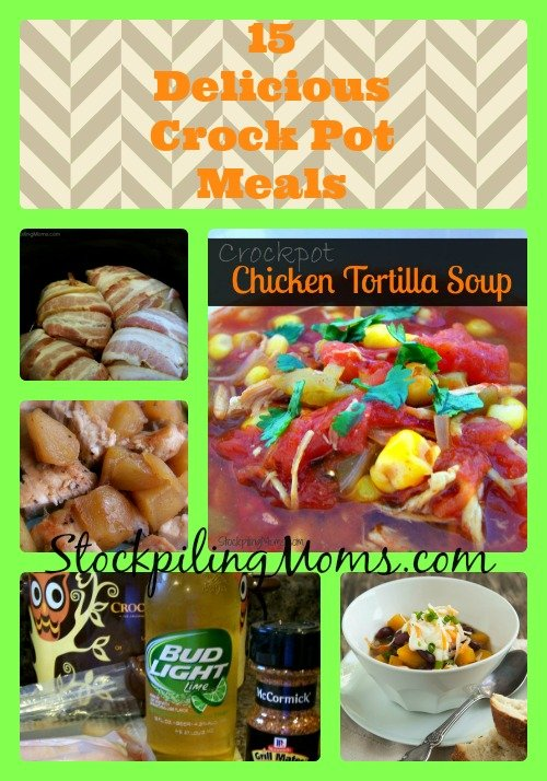 15 Delicious Crock Pot Meals that will make your tastebuds scream! Simple and easy to make!