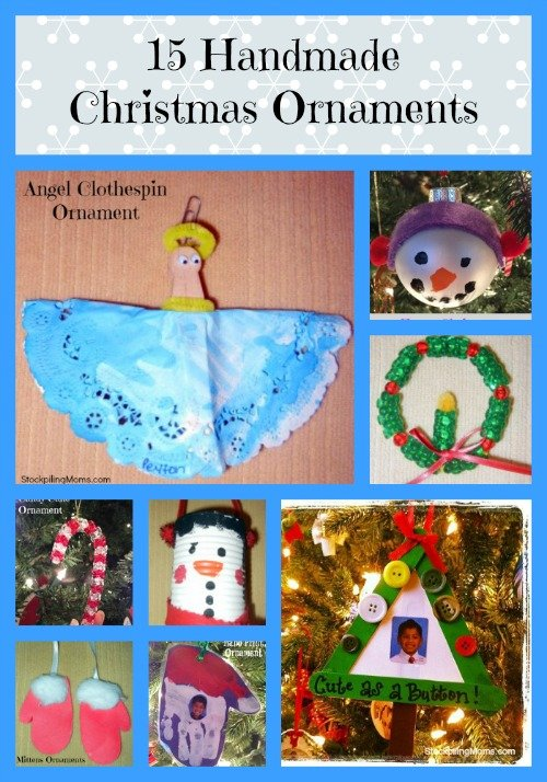 15 handmade Christmas ornaments that are easy to make and perfect for gift giving